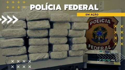 PF apreende droga engomada em meias, dentro de embalagens de café e de suplemento alimentar