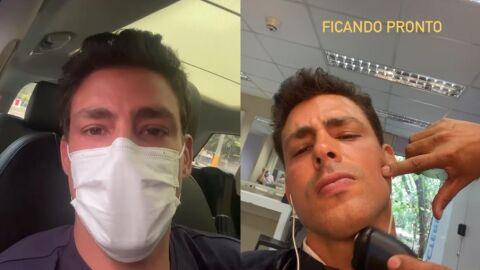 """Cauã Reymond fala sobre retomada de gravações: """"Com toda segurança"""""""