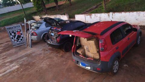 Polícia Militar apreende veículo com produtos de Descaminho no Distrito de Casa Verde