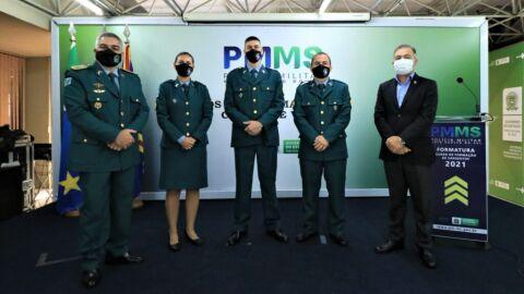 PMMS realiza solenidade de formatura do 27º Curso de Formação de Sargentos