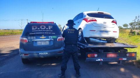 Veículo furtado em São Paulo foi recuperado pelo DOF durante a Operação Hórus