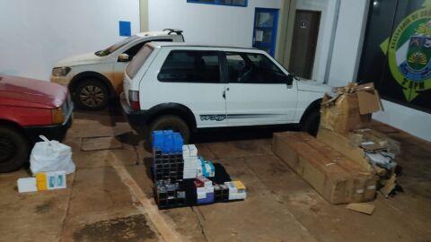 Polícia Militar apreende produtos de descaminho em estrada vicinal de Laguna Caarapã