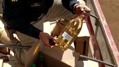 PRF flagra transporte de 800 caixas de vinho sem documentação fiscal em Rio Brilhante (MS)