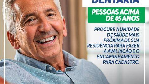 Secretaria de Saúde explica como fazer cadastro para Prótese Dentária