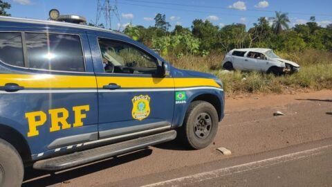 PRF recupera veículo em Água Clara (MS)
