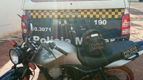 Polícia Militar em Jardim recupera moto furtada e apreende simulacro