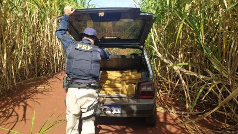 PRF apreende 301 Kg de maconha em Caarapó (MS)