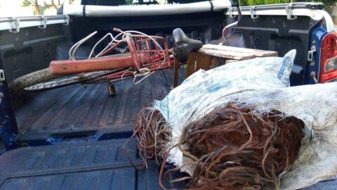 Polícia Militar em Três Lagoas encaminha dois indivíduos por furto de fios elétricos
