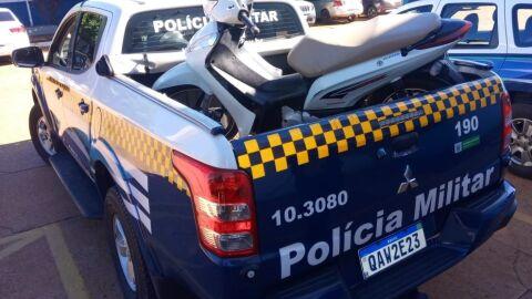 Polícia Militar em Três Lagoas recupera moto furtada