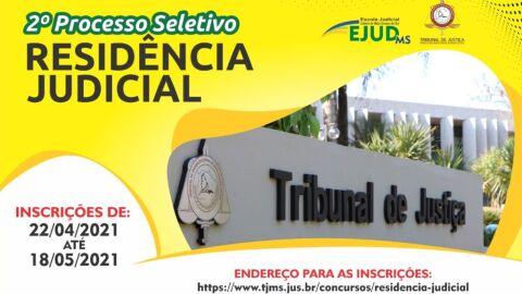 Inscrições para o programa de Residência Judicial estão abertas até dia 18 de maio