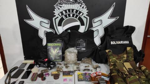 Casal do Disk Entrega é preso com variedades de drogas no 'cardápio'