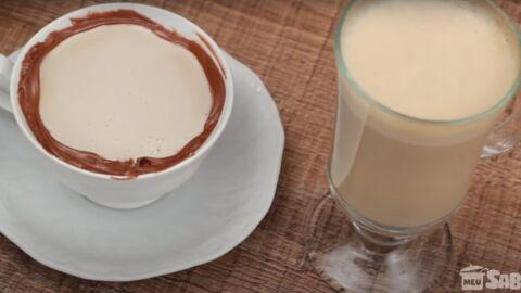 Café cremoso super quentinho e ótimo para assistir aquele filminho no inverno!