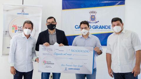 Prefeitura entrega R$ 70 mil em prêmios do 12º sorteio da Nota Premiada Campo Grande
