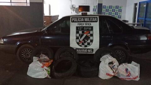 Operação Hórus  Em Naviraí, Polícia Militar apreende produtos descaminhados
