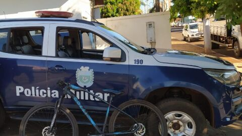 Polícia Militar de Maracaju recupera bicicleta produto de furto