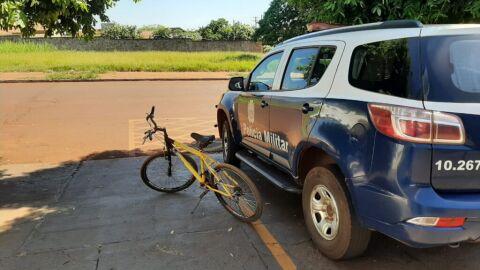 Polícia Militar de Maracaju detém indivíduo por receptação de bicicleta