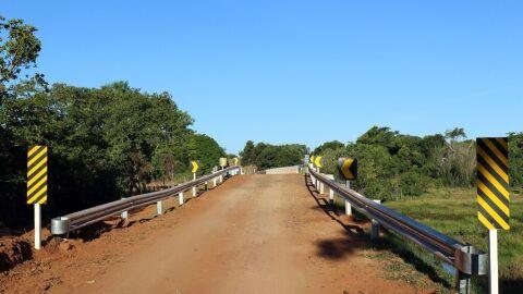 Ponte do Córrego Lagoa Amarela está 100% concluída