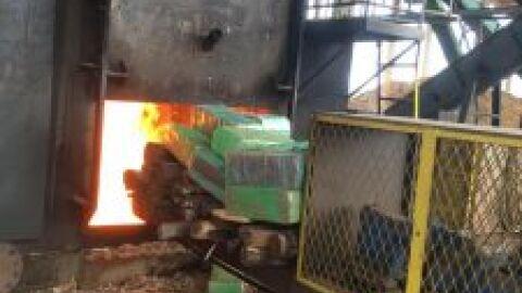 Polícia de Itaquiraí queima 388,7 kg de maconha em MS
