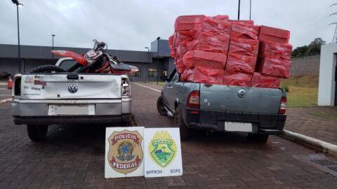 PF e BPFRON realizam apreensão de carregamento de contrabando