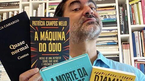 Zeca Camargo lança campanhacontra o retorno da tributação sobre livros