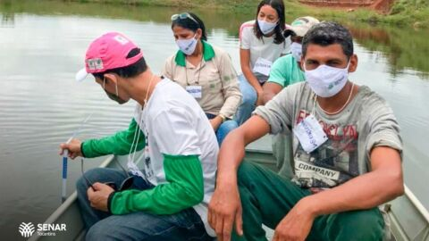 """Primeiro curso """"Manejo Nutricional de Peixes"""" do SENAR capacita produtores de Itaguatins"""