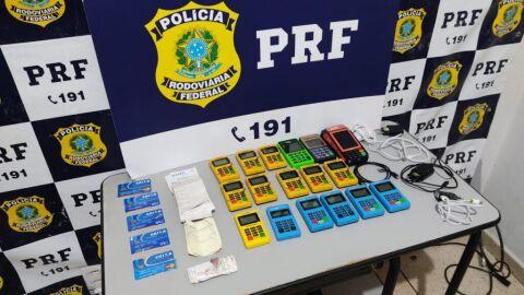 PRF prende em Água Clara (MS) quadrilha de estelionatários que clonava cartões