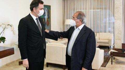 Guedes e Pacheco se encontram para discutir reforma tributária
