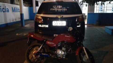 Em Itaquiraí, Polícia Militar apreende adolescente com motocicleta adulterada