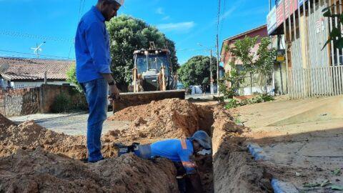 Sanesul padroniza rede de abastecimento de água em Coxim e moderniza sistema