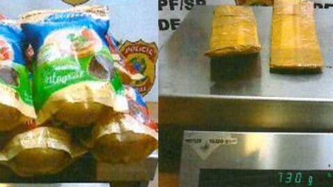 PF prende passageiros com drogas dentro de embalagens de biscoitos
