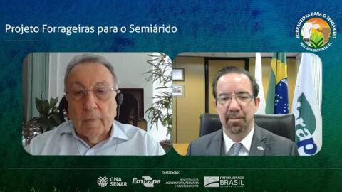 """CNA e Embrapa realizam dia de campo virtual do projeto """"Forrageiras para o Semiárido"""""""