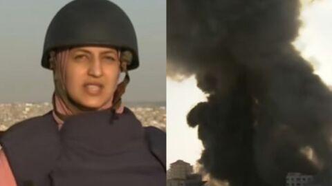 Repórter é quase atingida por bomba ao vivo; assista