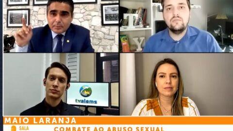 TV ALEMS debate ações do Maio Laranja durante programa Sala de Imprensa