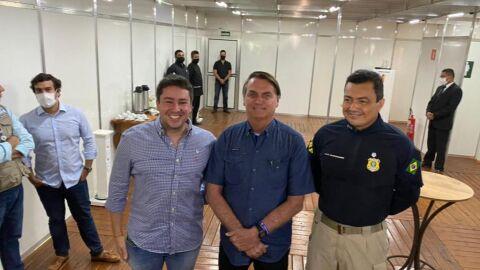 PRF acompanha visita do Presidente da República em Terenos (MS)