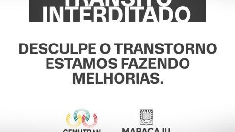 Prefeitura interdita parcialmente Rua Comandante Camisão