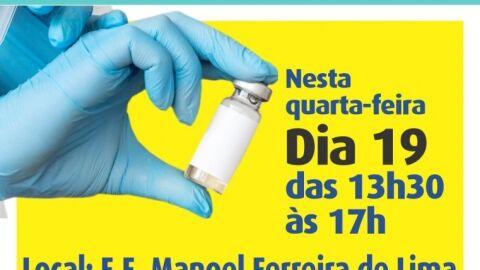 Vacinação da segunda dose da CoronaVac segue nesta quarta-feira