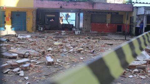 Vídeo: restaurante explode em Terminal Rodoviário; pessoa é resgatada em estado grave