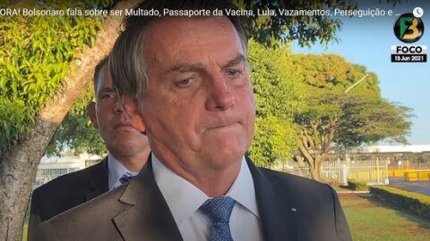 Jair Bolsonaro diz que vetará projeto que cria 'passaporte da vacina'