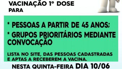 Covid-19: veja quais públicos são imunizados nesta quinta-feira em Maracaju