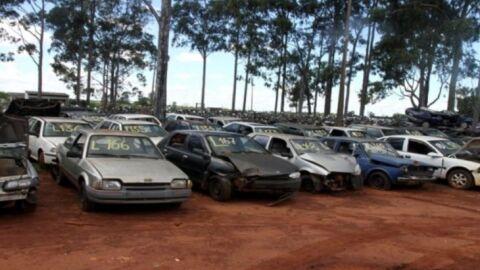 Pátio Zero: Detran-MS realiza leilão com veículos para sucata aproveitável