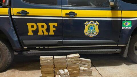 PRF apreende 28 Kg de pasta-base de cocaína em Nova Andradina