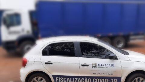 Fiscalização do Covid aborda caminhão de bebidas após denúncias