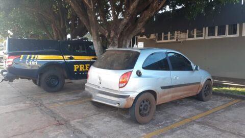 PRF recupera veículo em Sidrolândia (MS)