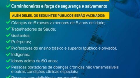 Prefeitura amplia grupos prioritários de vacinação contra a Gripe