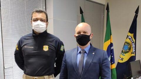 Superintendente da PRF/MS recebe Delegado da DRF em Campo Grande (MS)
