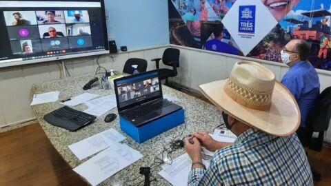 Angelo Guerreiro comandou videoconferência da AMUSUH com representantes de MT, MS e TO