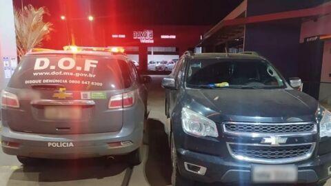 Dois menores foram apreendidos levando S10 roubada para o Paraguai