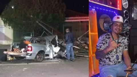 Cristian e mulher 'que pegou carona' morrem ao bater carro contra comércio; mãe da vítima desmaiou