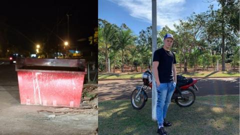 Everton, de 17 anos, morre ao colidir com moto contra caçamba de entulhos
