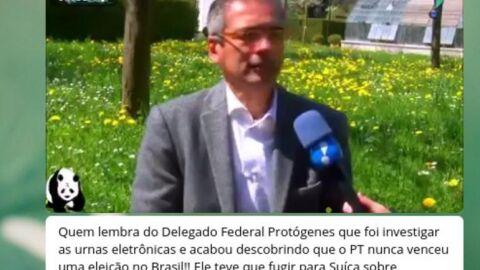 LUPA: É falso que Protógenes Queiroz se refugiou na Suíça porque 'descobriu fraude nas urnas'